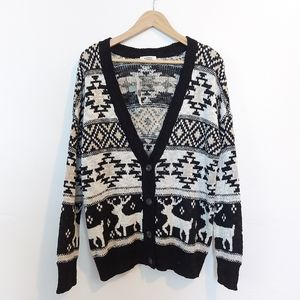 NWT Garage Button Down Cardigan tribal holiday